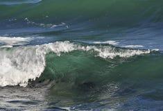 Transparente Küstenwelle Stockfotografie