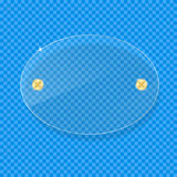 Transparente Klarglas-Platte mit Raum für Text Stockbild