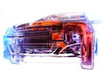 Transparente Modellautos lizenzfreie abbildung