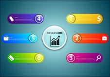 Transparente optionale Kapsel Infographic Lizenzfreie Stockbilder