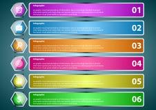 Transparente optionale Stange Infographic Stockfoto