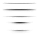Transparente realistische Papierschatteneffekte auf einen karierten Hintergrund Lizenzfreie Stockfotos
