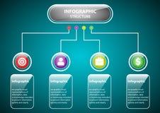 Transparente Struktur Infographic Lizenzfreie Stockfotografie