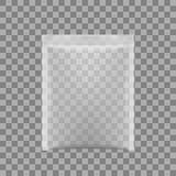 Transparente Verpackung für Snäcke, Chips, Zucker, Gewürze oder anderes Lebensmittel Stockbilder