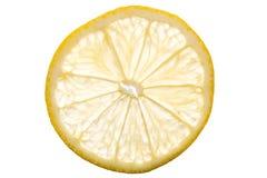Transparente Zitronen-Scheibe Lizenzfreies Stockfoto
