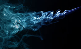 Transparented colorful cloud of smoke stock photography