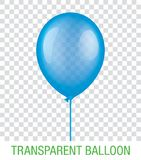 Transparenter blauer Vektor Ballon Stockbild
