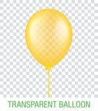 Transparenter gelber Vektor Ballon Lizenzfreies Stockfoto