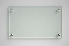 Transparenter Glasvorstand Stockbilder