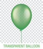 Transparenter grüner Vektor Ballon Lizenzfreies Stockfoto