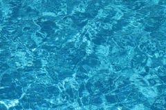 Transparenter Hintergrund des blauen Wassers Stockfoto