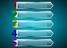 Transparenter optionaler Pfeil Infographic Stockfotografie