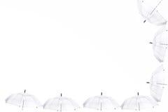 Transparenter Regenschirm auf weißem Hintergrund Lizenzfreie Stockfotografie