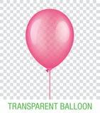 Transparenter rosa Vektor Ballon Stockbilder