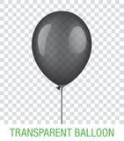 Transparenter schwarzer Vektor Ballon Lizenzfreies Stockfoto