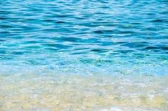 Transparenter voller Rahmen des Meerwassers Lizenzfreies Stockbild