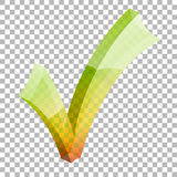 Transparentes Häkchen vektor abbildung