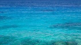 Transparentes Küstengewässer des Meeres im Sommer Lizenzfreies Stockfoto