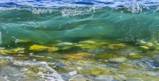 Transparentes Küstenmeer/Meereswoge Stockfotos