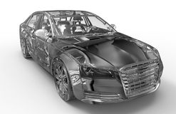 transparentes Konzept des Autos 3D Stockfotografie