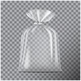 Transparentes leeres Verpacken f?r Brot Satz f?r Kaffee, Bonbons, Pl?tzchen lokalisierte ontransparent Hintergrund Vektorspott stock abbildung