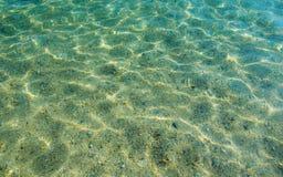 Transparentes Meerwasser Stockfotografie