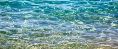 Transparentes Meerwasser des Breitbild-Hintergrundes Lizenzfreies Stockbild