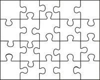 transparentes Puzzlespiel Stockfotografie