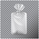Transparentes rechteckiges Verpacken f?r Brot Satz f?r Kaffee, Bonbons, Pl?tzchen lokalisiert auf transparentem Hintergrund Vekto vektor abbildung