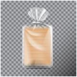 Transparentes rechteckiges Verpacken f?r Brot Satz f?r Kaffee, Bonbons, Pl?tzchen Vektorspott herauf Illustration lizenzfreie abbildung