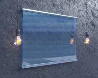 Transparentes Schild auf Betonmauer, verspotten herauf Art der Illustration 3d, Symbol, die Schablone, die, herauf, die Wand tran vektor abbildung