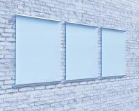 Transparentes Schild auf Betonmauer, verspotten herauf Art der Illustration 3d, Symbol, die Schablone, die, herauf, die Wand tran stock abbildung