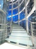 Transparentes Treppenhaus Stockbilder