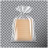 Transparentes Verpacken f?r Brot Satz f?r Kaffee, Bonbons, Pl?tzchen lokalisiert auf transparentem Hintergrund Vektorspott oben vektor abbildung