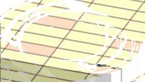 Transparentes Wasser mit weißer Kreiswelle plätschert lebhafte Videoaufnahmenillusion der Spitzenwasseroberflächenwellenbewegung  lizenzfreie abbildung