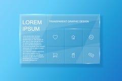 Transparentes Webdesign Stockfoto