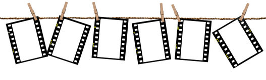 Transparentfilme als Hintergrund Lizenzfreie Stockfotos