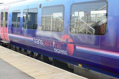 TransPennine pociąg ekspresowy zdjęcia royalty free
