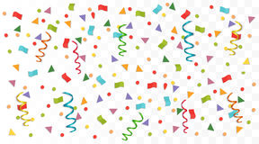 Transperant alpha background with colorful confetti. Vector illustration. Stock Image