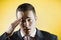 Transpiração do homem de negócio Fotografia de Stock