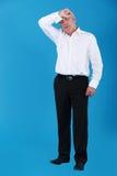 Transpiração do homem de negócios. imagens de stock royalty free