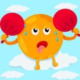 Transpiração do sol dos desenhos animados Imagens de Stock