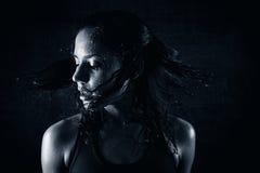 Transpiration de la fille Photographie stock libre de droits