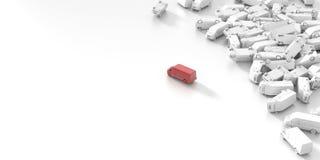 Transpoortation und Versand Stockbild