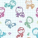 Transportów dzieciaków wzór Zdjęcie Royalty Free