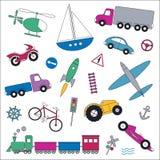 Transportów pojazdów kolekci ilustracja Fotografia Royalty Free