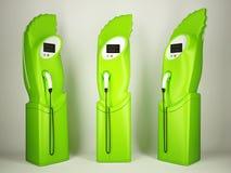 Transport écologique : stations de charge pour des véhicules électriques Photographie stock
