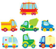 Transport 001. Children's illustrations and clip-arts cars for your design Stock Photography