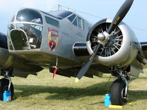 Transport admirablement reconstitué de militaires du modèle AT-11 de Beechcraft de vintage photos libres de droits
