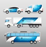 Transport Advertisement Design stock illustration